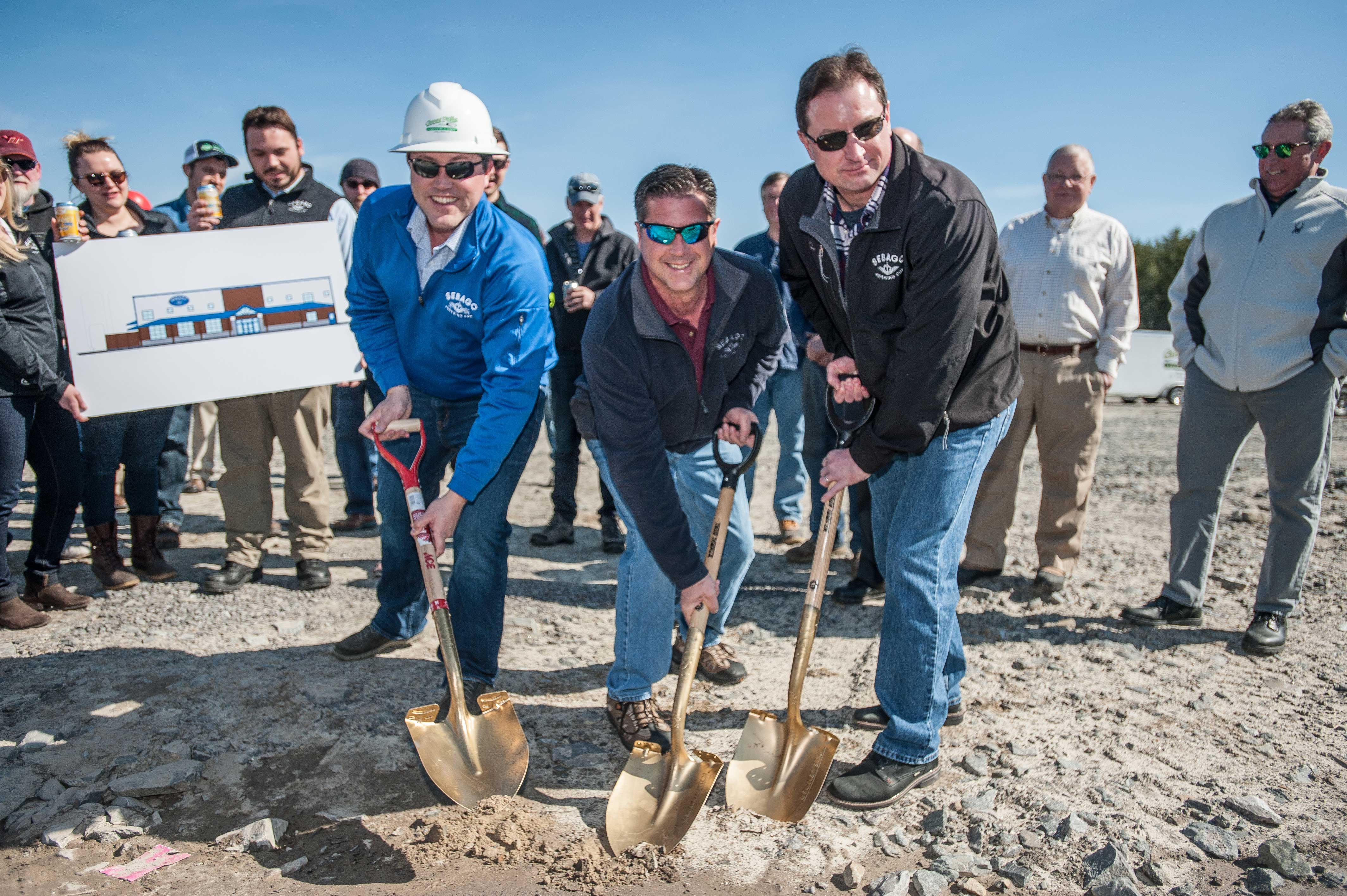 Sebago founders break ground at the new brewery