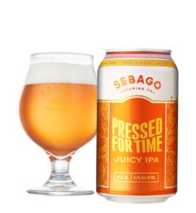 Pressed For Time IPA by Sebago Brewing Company